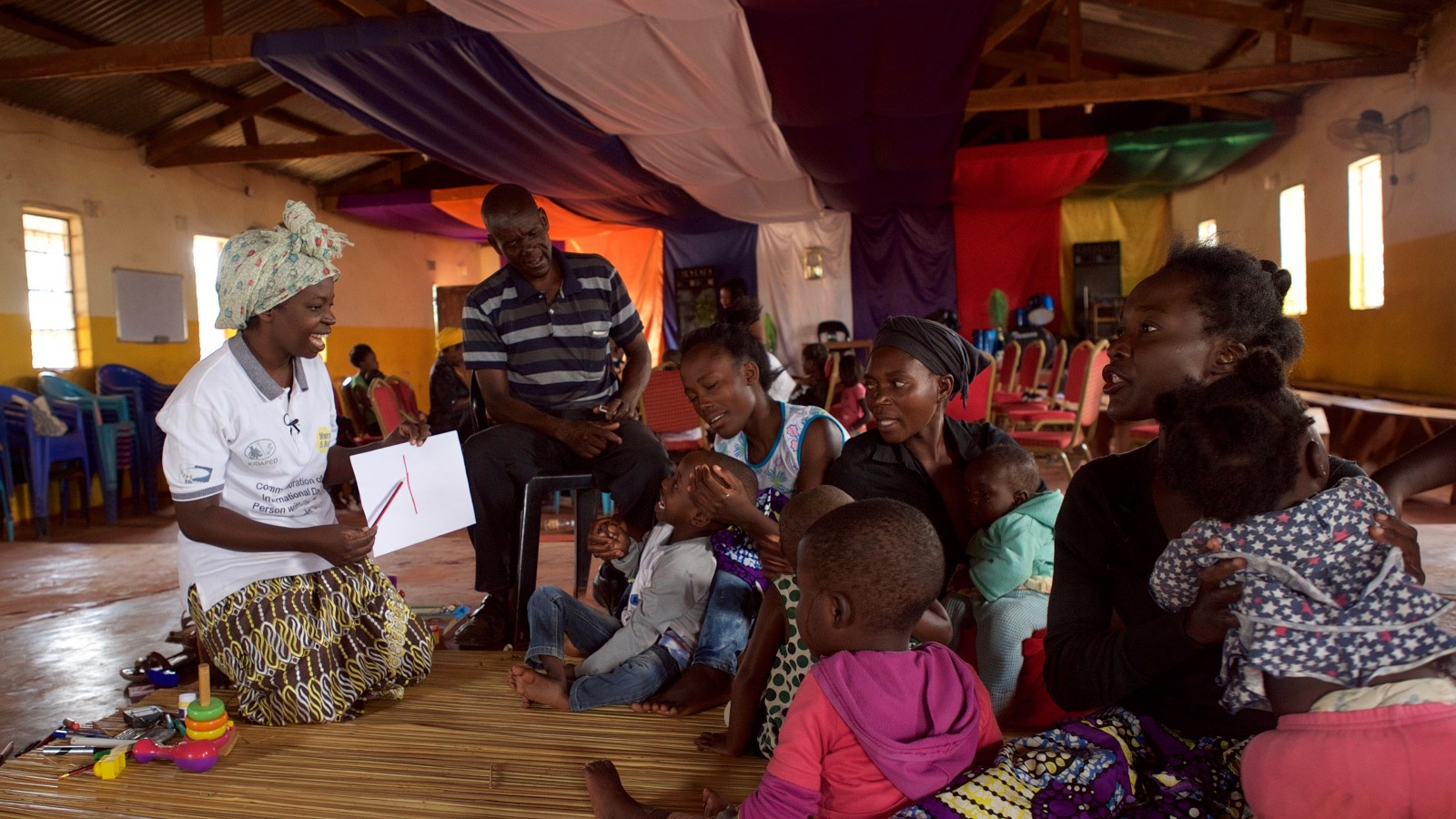 A support group for children with disabilities in Zambia